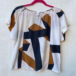 Diane Von Furstenberg Color-Block Silk Blouse